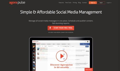 Công cụ Agorapulse để quản lý fanpage trên facebook