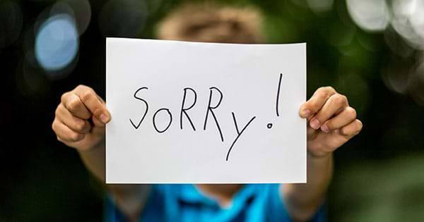 Xin lỗi khi khách hàng không hài lòng dịch vụ, sản phẩm